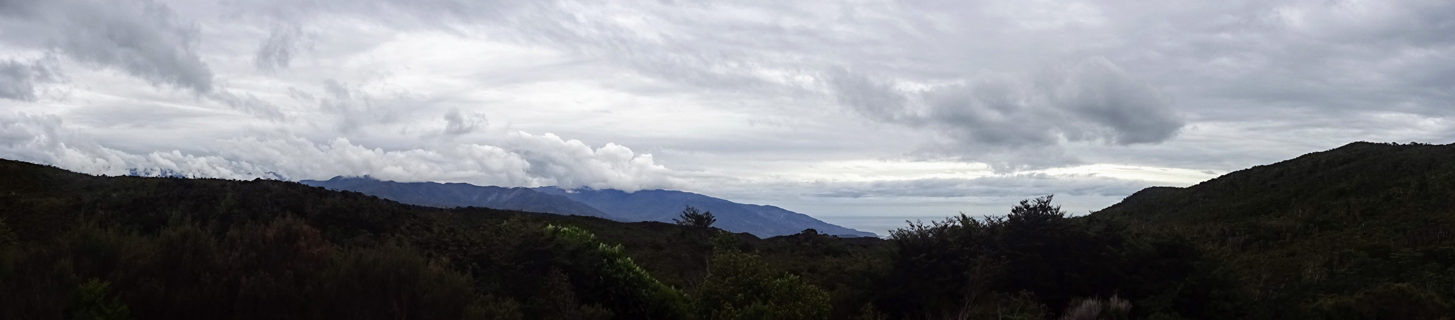 Heaphy Track view from James Mackay Hut