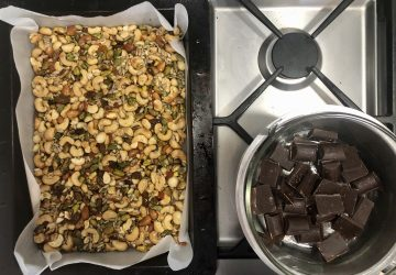 Make your own hiking nut bars